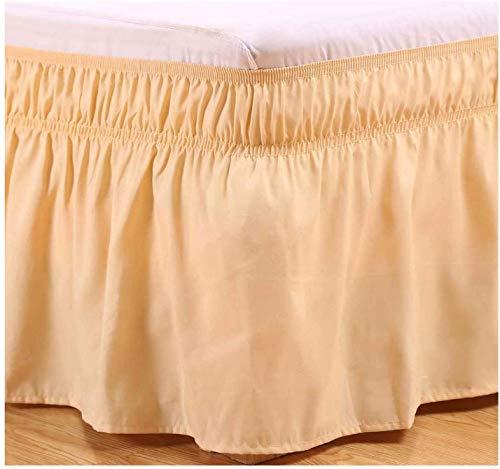LANG ZI 150/135 cm Volantes elástica Falda de Cama 38cm Bedding Ruffled Bedskirt Medidas canapé Cubre unda de Somier Faldón de Volantes con (Color : A, Size : 150 * 200cm)