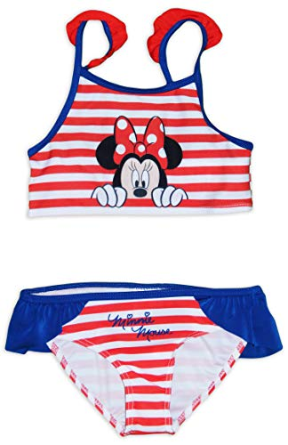 Disney Minnie Mouse Mädchen Badeanzug Bikini Gr. 104/110 cm (4- 5 Jahre), rot