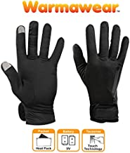 Warmawear Battery Heated Dual Fuel Glove Liners Perfect for Running and Cycling (Large)