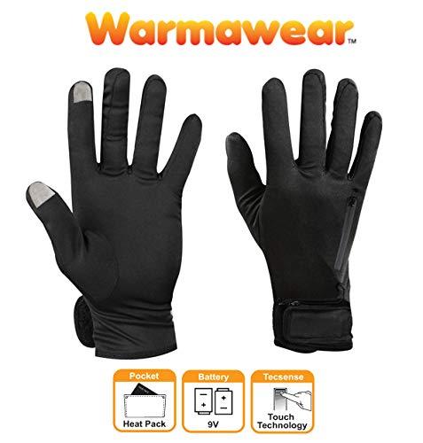 Warmawear - Guante térmico con batería de Combustible Dual Correr y Ciclismo...