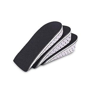 ESPFREE Plantillas Aumento de altura Inserto de zapata Soporte de arco Elevadores de calzado Elevador Inserciones de elevación de talón para hombres y mujeres (L (4.2 CM))