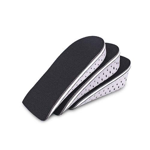 ESPFREE Plantillas Aumento de altura Inserto de zapata Soporte de arco Elevadores de calzado Elevador Inserciones de elevación de talón para hombres y mujeres (M (3.2 CM))