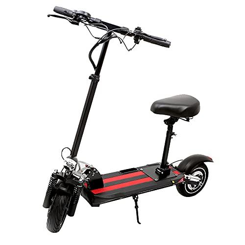MKKYDFDJ Plegable Patinete Eléctrico con Asiento Desmontable,Peso Ligero Portátil E-Scooter para Adultos...