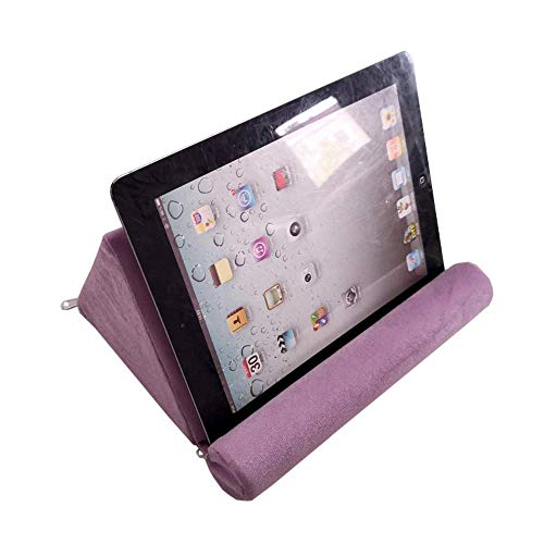 Kaptin Tablet Pillow,Mini Tablet Computer Holder Sofa,Reading Stand,Tablet Stand,Desktop Stand Holder for Tablet, Pad, Book, magazines (Purple)