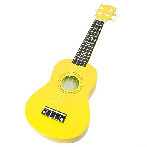 EXCEART 1 Pcs 21 Pulgadas Ukelele Guitarra Juguete Madera Ukelele Guitarra Juguete Educativo Guitarra Juguete para Niños Principiantes (Amarillo)