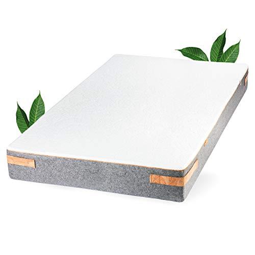 JONA SLEEP Naturlatex Matratze (90 x 200 cm) Pure - H2 - Weich, Natur-Matratze mit 7 Zonen für Allergiker-Geeignet - Öko Tex 100 - LGA gestesteter Kern (90x200 cm)