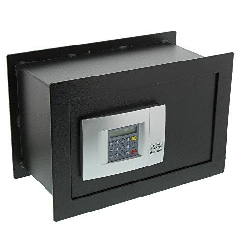 BURG-WÄCHTER Wandtresor mit elektronischem Zahlenschloss, Point-Safe, zum Einmauern, 10,3 l, 14,7 kg, PW 3 E, Schwarz