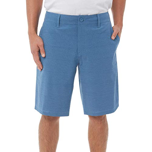 Hang Ten Men's Hybrid Short (40, Vallarta Blue)