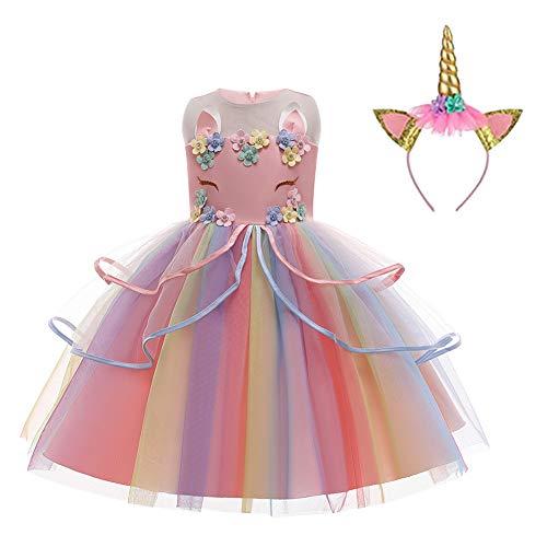 LZH Unicornio Vestido de Fiesta de Boda Cosplay Princesa Vestido de Fiesta de cumpleaños