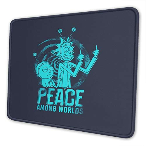Rick and Morty Funny Mid-Finger Adult Animated Cartoon Gaming Non-Slip Mouse Pad Rubber Base Waterproof Mousepad for Office Computer Laptop Home Desk