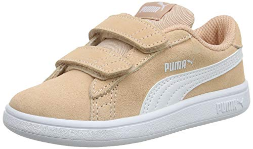 Puma Jungen Smash v2 SD V Inf Sneaker, Pink (Peach Parfait White), 26 EU