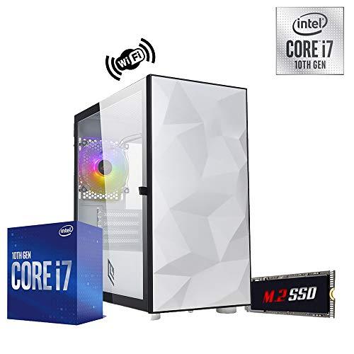 Pc Desktop Intel i7 10700 4.80 ghz Ram 16 gb ssd m2 256gb + Hard Disk 1 tb WiFi Psu 500w Licenza Windows 10 PRO