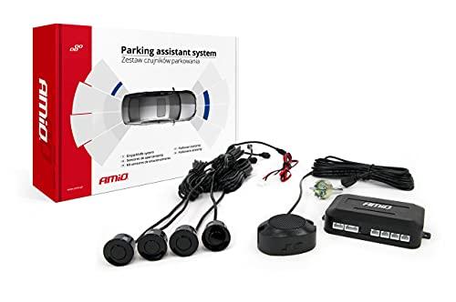 Einparkhilfe Set, Akustisches Signal, Park System inkl. 4 Sensoren & Lautsprecher, Hinten (Akustisch, schwarz, hinten)