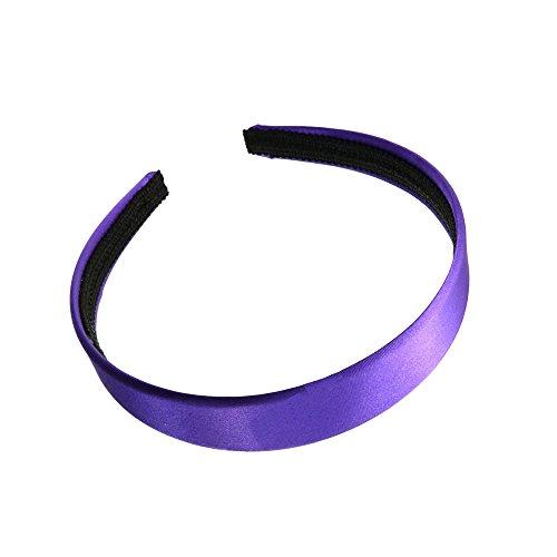 2 cm (2 cm) de large Violet recouvert de satin Alice Bandeau Cheveux Bandeau