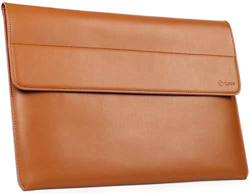 DPOB 13,3 Zoll Laptop Hülle Tasche wasserdichte Laptophülle Compatibel mit 13,3 Alt MacBook Air/MacBook Pro 2012-2015/12,9 iPad Pro/Hp Spectre x360 13 Laptoptasche mit kleine Tragetasche (Brown)