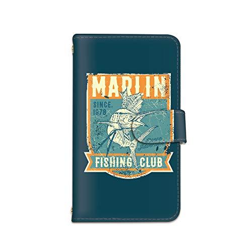 [bodenbaum] AQUOS EVER/AQUOS L2 SH-02J / SH-L02 手帳型 スマホケース カード ミラー スマホ ケース カバー ケータイ 携帯 SHARP シャープ アクオス エバー/アクオス エルツー docomo SIMフリー FISHING CLUB 魚 釣り d-159 (A.オレンジ)