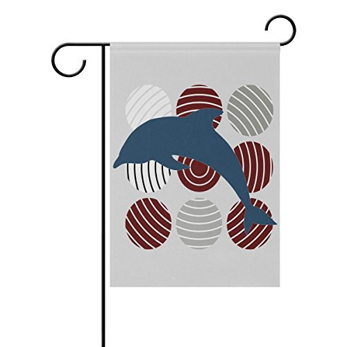 LIANCHENYI Dolphin spielen Farbige Kugeln doppelseitig Familie Flagge Polyester Outdoor Flagge Home Party Decro Garten Flagge 71,1x 101,6cm