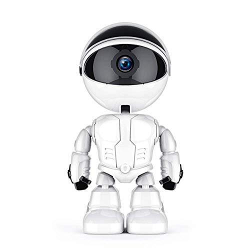 YWT Robot de cámara WiFi Super HD 1080P, Monitor de cámara para bebé Mascota, niñera, Audio bidireccional, visión Nocturna y visualización remota, admite Tarjeta SD de 128GB