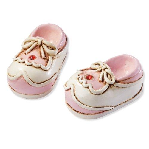 Babyschuhe - rosa * Baby Geburt Taufe * Tortendekoration * Tortenfigur * Tischdekoration