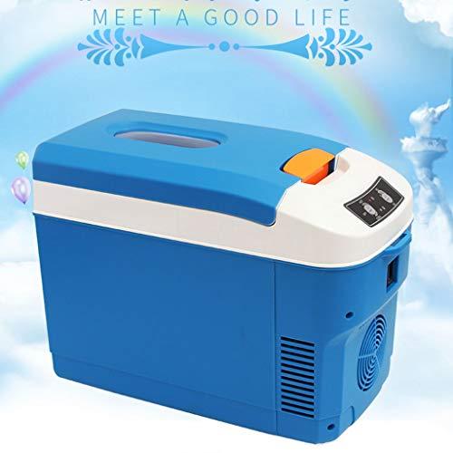 waart 10 liter draagbare thermo-elektrische koelbox geluidloos 12 V en 220 V voor auto en stopcontact ideaal voor outdooractiviteiten in de tuin, barbecue picknick camping