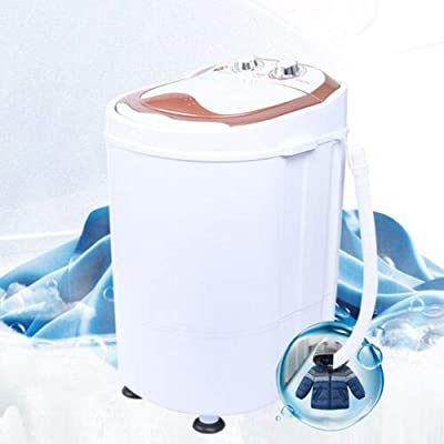 Mini Washing Machine Portable Compact Single Tub 2 in 1 Laundry Washer Dehydration for Dorms Apartments Travel Camping