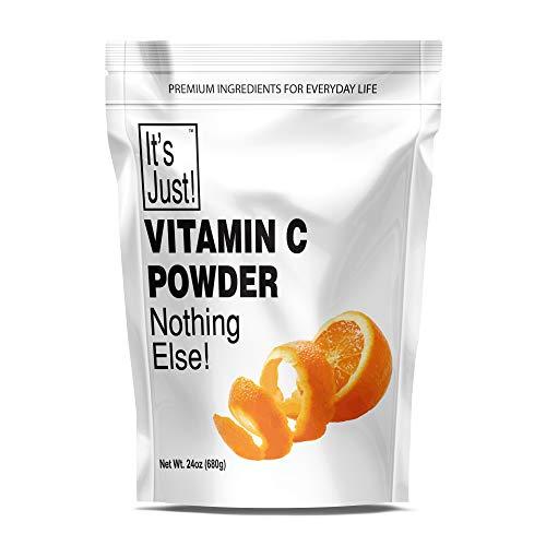 It's Just - Vitamin C Powder, Food Grade, Non-GMO, Ascorbic Acid, Immune Support, Homemade Cosmetics (24oz)
