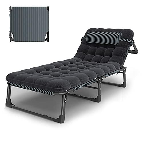 Iyom Outdoor Zero Gravity Lounge Stuhl Liegen Verstellbare Faltbare Gartenliege für Beach Garden Familienpool, Der Kopf kann dreimal eingestellt Werden, Unterstützung 180 kg