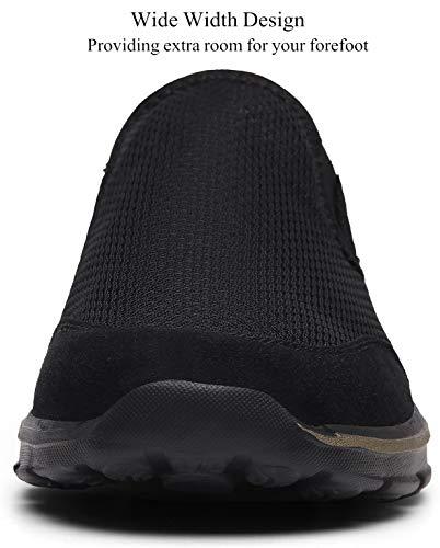 Zapatillas de Casa Mujer Hombre Zuecos de Algodón Comodas Transpirable Casual Pantuflas Exterior y Interior, Negro, 40 EU