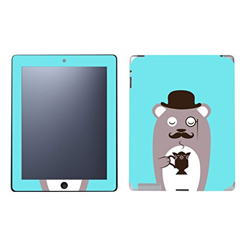 'Disagu SF 101953_ 1135Protective Skins Case Cover For Apple iPad 2–Coffee Bear Brown Clear