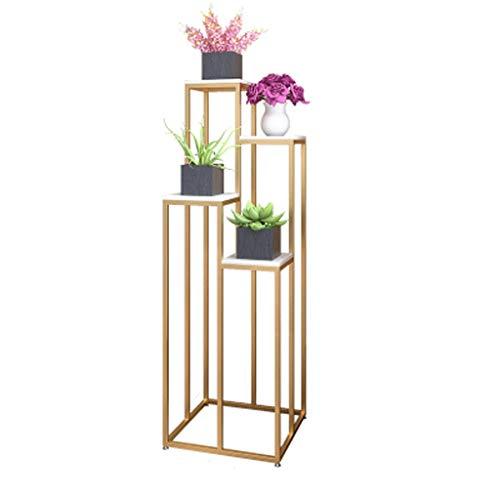 Salon Jardinière Multi-Couche Plante Verte Stand Plancher Type de Jardinière Balcon Creative Flower Table personnalité (Color : Gold, Size : 120cm)