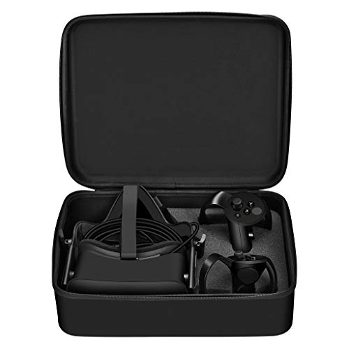 jfhrfged Ersatz für Oculus Rift CV1 Reisekoffer Kopfhörer Fernbedienung und Ladegerät, Schwarz
