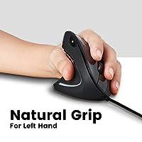 ぺリックス PERIMICE-513L / 713L 左手用垂直型ワイヤレスエルゴノミクスマウス ワイヤレス 手首の疲労や痛みを軽減 800/1200/1600 DPI 左手用 人間工学 【正規保証品】 (有線 USB)