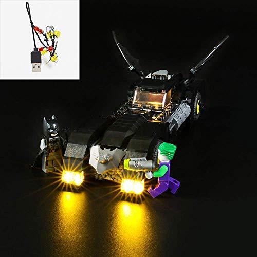 Juego de luces LED USB DIY Compatible con Lego Batmobile Pursuit of The Joker 76119, Kit de luz LED para bloques de construcción (Batmobile Pursuit of The Joker) Modelo Kids Christmas Gifts (No inclui