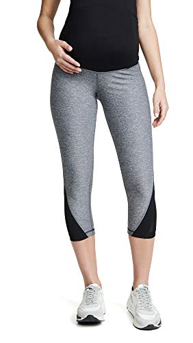 Ingrid & Isabel Women's Maternity Activewear Mesh Leggings with Crossover Panel...