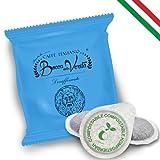 BOCCA DELLA VERITA - Paquete de 100 Cápsulas E.S.E. Aroma DESCAFEINADO, Cápsulas Compatibles con Cafetera E.S.E. dm 44mm, Cápsulas 100% Biodegradables, 100% Made in Italy