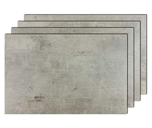 6er Premium Tischsets Steinoptik Beton-Grau | abwaschbar | PVC-CV | je ca. 43,5x28,5cm | je ca. 1,8mm | je ca. 150g | Gastro-Qualität | bazaaro