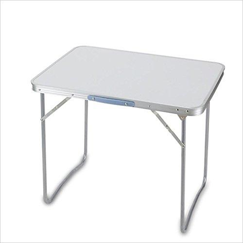 Mesa Ordenador Plegable 80cm Kids Plegable Mesa De Aluminio Azul Mesas Portátiles...