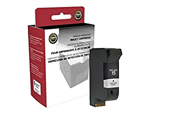 Inksters Remanufactured Ink Cartridge Replacement for HP 15 C6615DN  HP 15  - Black