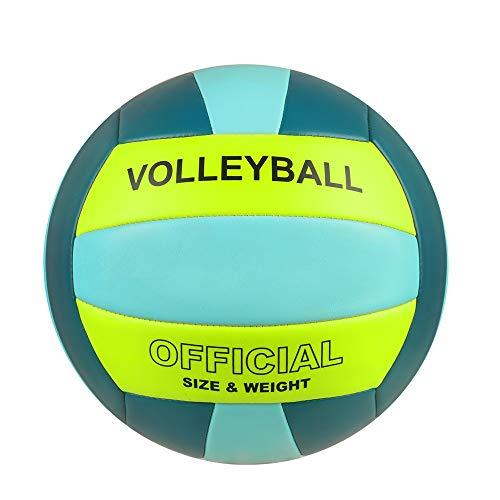 YANYODO Beachvolleyball Soft-Touch-Volleyball (Size 5, gelb-grün-blau)