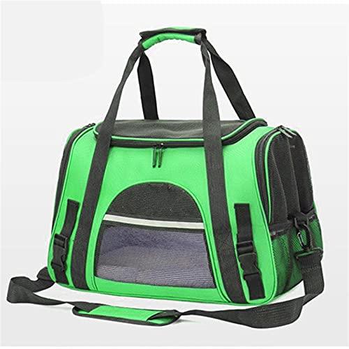 Bolsa para mascotas Portador de perros bolsas portátil mascota gato perro mochila transpirable gato portador bolsa aerolínea aprobado transporte transporte para gatos pequeño perro ( Color : Green )