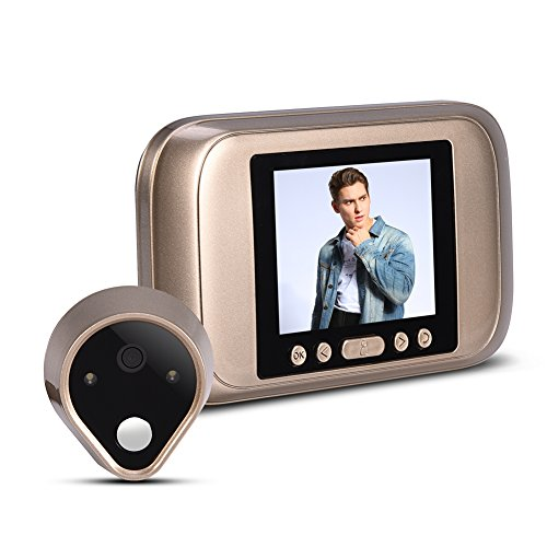 VBESTLIFE Viewer Timbre Inteligente Visual Digital con 3.2 Pulgadas Pantalla LED 1MP HD Mirilla Electronica Timbre Video de Puerta para Seguridad de Casa/Oficina /Hotel