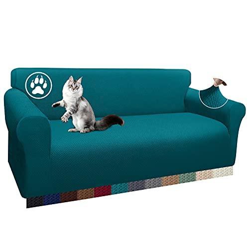 Luxurlife 1 funda de sofá de 3 plazas, elástica, antideslizante, para salón (3 plazas), color verde azulado