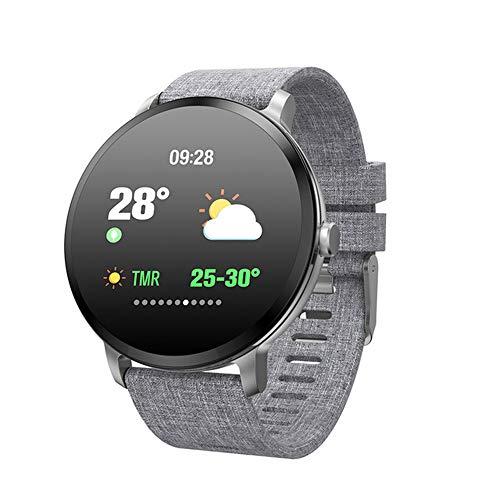 Smart Horloge Bloeddruk Hartslagmeting Sport Hardlopen Informatie Herinnering Slimme Armband Fitness Tracker,Gray