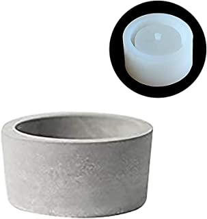 Nicole Silicone Flower Pot Mold for Succulent Plants Cylindrical Concrete Ashtray Candle Holder Mould