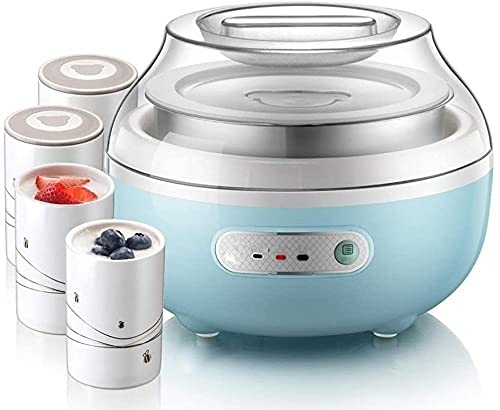 WENJZJ Máquina de Yogur: Cocina de Yogurt de Cocina: máquina automática del Fabricante de Yogurt Digital con Temperatura Establecida. Frascos de Vidrio Reutilizables para Almacenamiento instantáneo