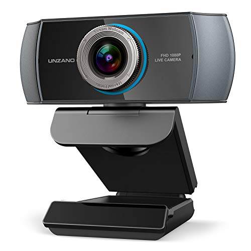 Full HD Webcam 1080P, Streaming Camera, Widescreen Video Calling and Recording with Microphone, USB...