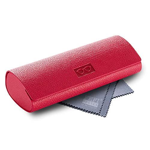 FEFI - Stabiles Hardcase Brillenetui in modischen Farben (Rot)