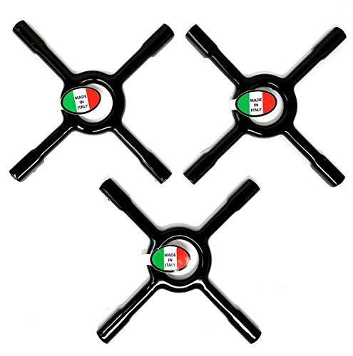 SET 3 PEZZI, Supporto per fornello a gas - riduttore smaltato, MADE IN ITALY