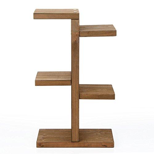 GRANDLIN Mini-Pflanzenständer, Holz-Etagere für Sukkulenten im Innenbereich, Café, Zuhause, Büro, Schreibtisch