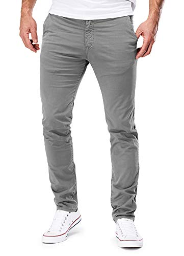 MERISH Chino Herren Slim fit Chinohose Stretch Designer Hose Neu 401 (33-32, 401 Hellgrau)